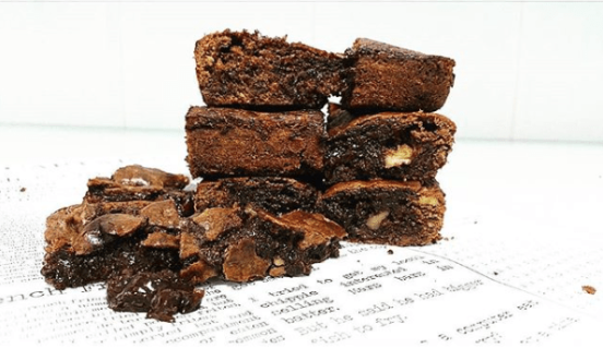 brownie troceado